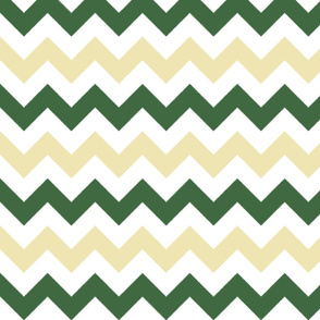 Tan and Olive Chevron Stripes