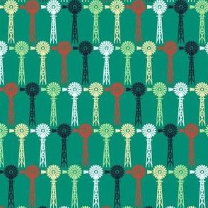 Windmills - Summer Farm Green