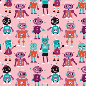 Cool colorful robots for girls