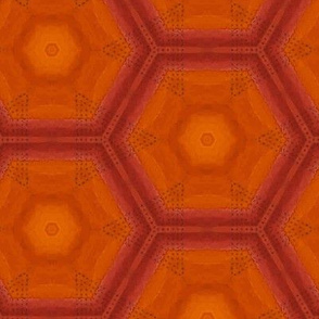 Hot Summer Hexagon in Orange
