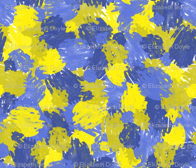 Blue and Yellow Scribbles