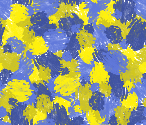 Blue and Yellow Scribbles fabric by elizabethdoyle on Spoonflower - custom fabric