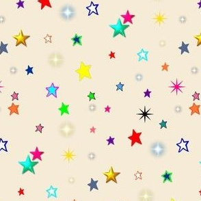 Rainbow Stars on Cream