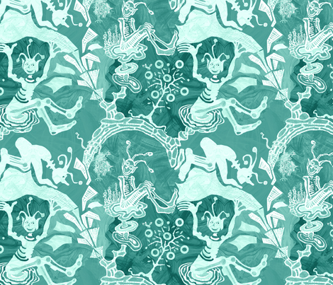 cosmic-kaufman1500jade fabric by wren_leyland on Spoonflower - custom fabric