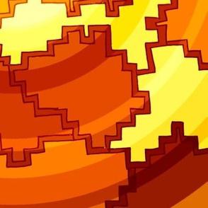 Geometric Sun Swirls