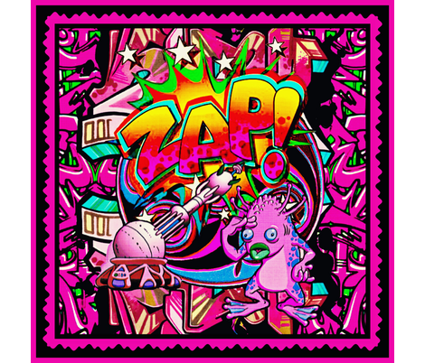 Zap Graffiti pillow topper