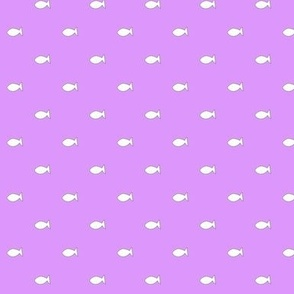 Small fish on pink/purple background
