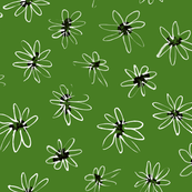 Green Daisy Pattern