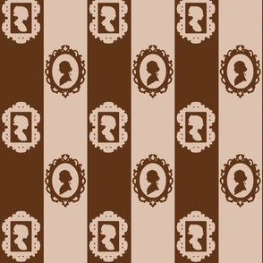 Brown and Cream Cameo Stripe