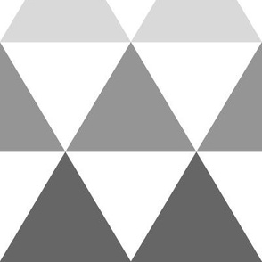 Ombre Triangles Large Gray