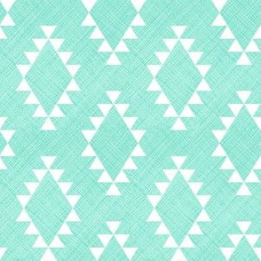 Aztec Crosshatch Mint