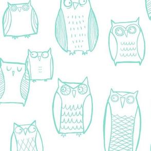 Night Owl White/Mint