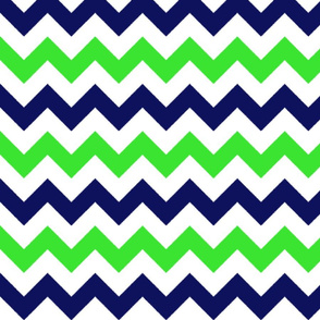 Blue and Green Chevron Stripes