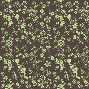Ditsy_flowers_brown_lime