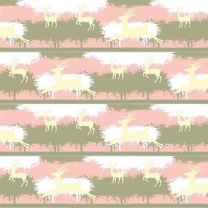 Cream Deer-stripes-pink