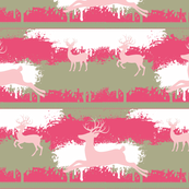 pink Deer-stripes-  berry pink