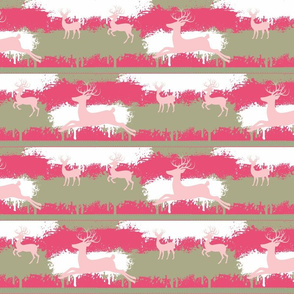pink Deer-stripes-  berry pink