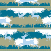 Blue Deer-stripes-aqua blue