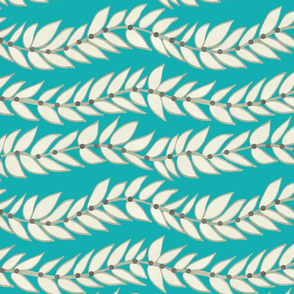 Leaf Dot Stripe Teal