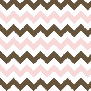 Pink and Brown Chevron Stripes
