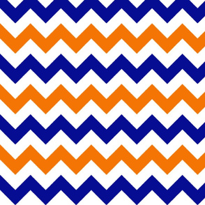 Orange and Blue Chevron Stripes