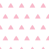 Triangles pink on white