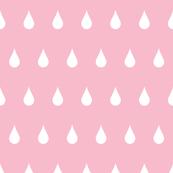 Raindrops white on pink