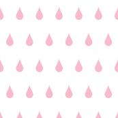 Raindrops pink on white
