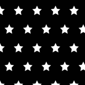 Stars white on black