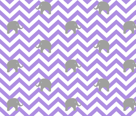 Baby elephants on purple chevron fabric for Purple baby fabric
