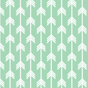 Arrows continuous white on pastel green