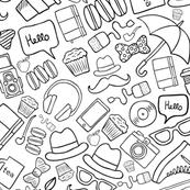 Hipster stuff doodle