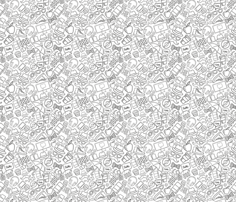 Hipster stuff doodle  fabric by kostolom3000 on Spoonflower - custom fabric