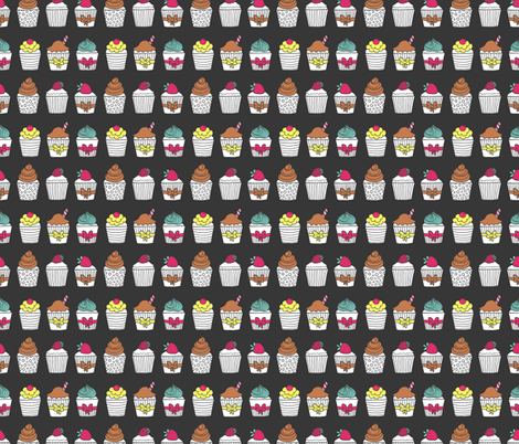 cupcakes fabric by kostolom3000 on Spoonflower - custom fabric