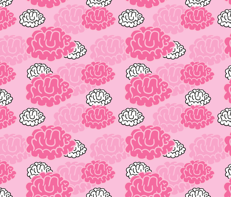 brains fabric by kostolom3000 on Spoonflower - custom fabric