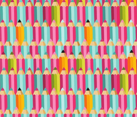 pencils fabric by kostolom3000 on Spoonflower - custom fabric