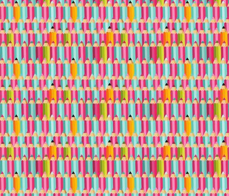 pencils fabric by kostolom3000 on Spoonflower - custom fabric