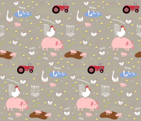Farm Fresh! fabric by pattyryboltdesigns on Spoonflower - custom fabric