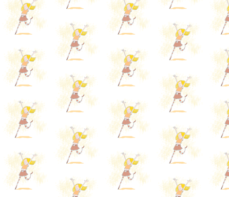 dancing girl fabric by margreetdeheer on Spoonflower - custom fabric