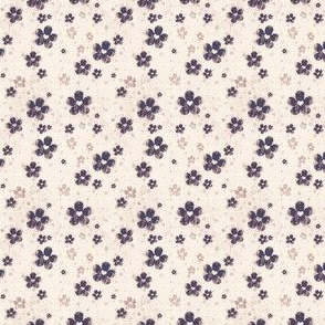 grungy flowers ditsy - cream