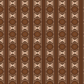 Dark Brown Tribal Stripe