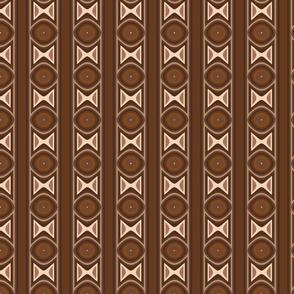 Dark Brown Tribal Stripe Large