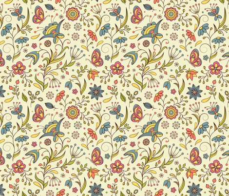 herb garden fabric by kiyanochka on Spoonflower - custom fabric