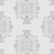 Medallion Simple Repeat Grey