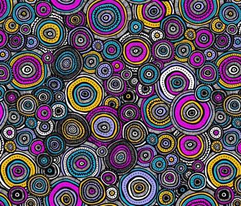 Tribal Circles (Multi) fabric by robyriker on Spoonflower - custom fabric