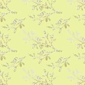Birds on branches - citron