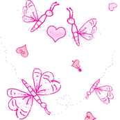 Butterfly Love - pink-ed