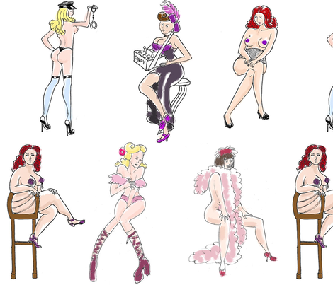burlesque fabric by margreetdeheer on Spoonflower - custom fabric