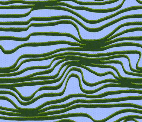 terraced fields reflecting the sky