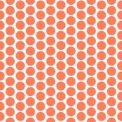 Orange polka dots on white